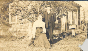 Edwin Fowler and his aunt (image courtesy of the Mohegan Tribe)