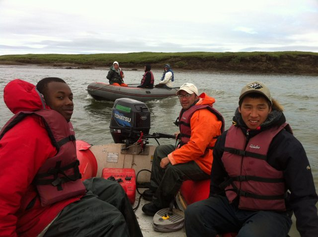 Survey crew at Snow Goose Island